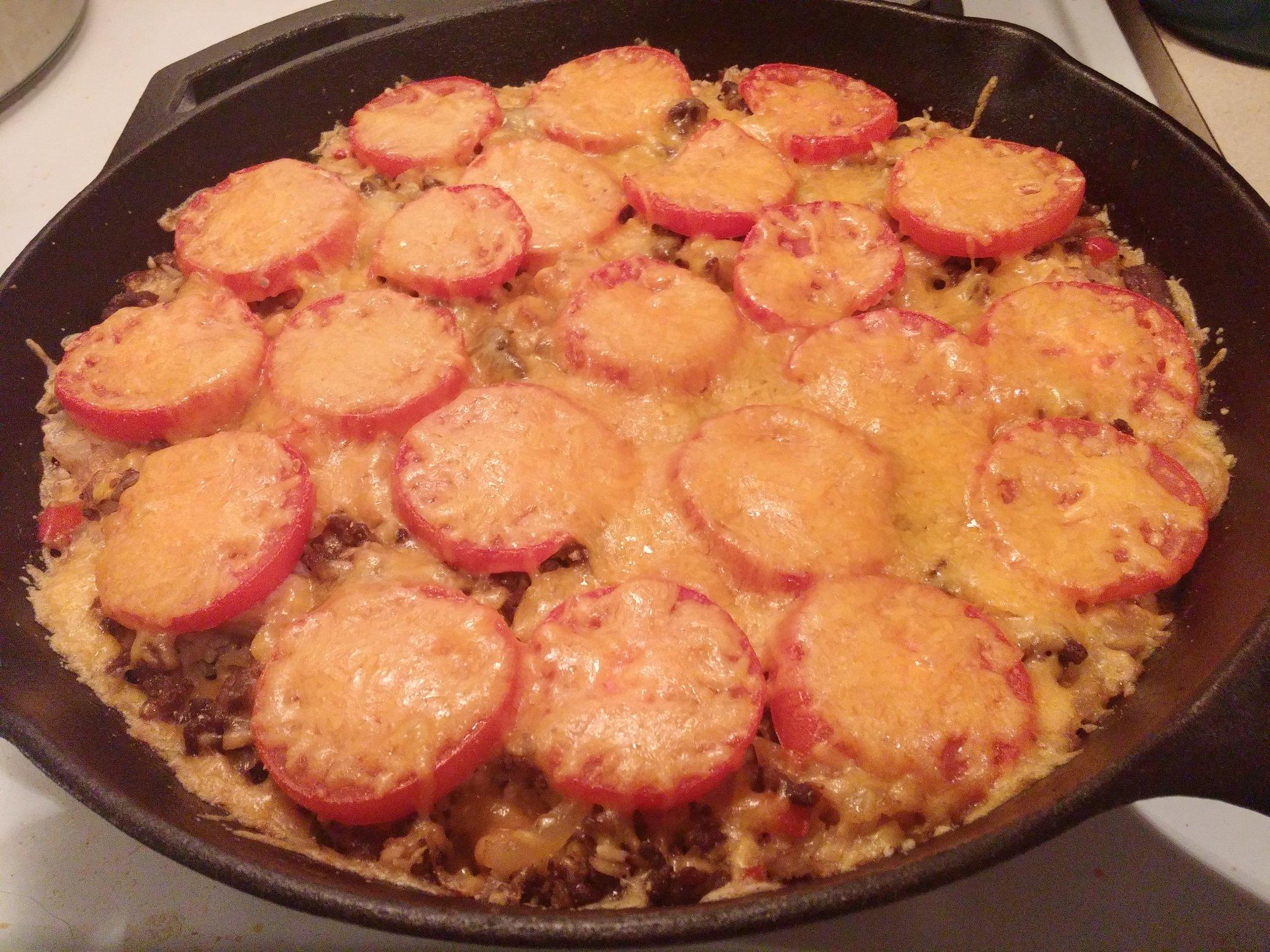 Iron Skillet Chorize & Chicken