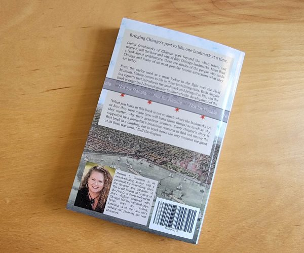 Living Landmarks of Chicago - proof copy - back cover