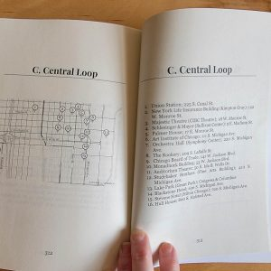 Living Landmarks of Chicago - proof copy - map
